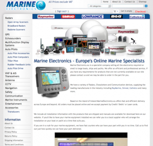 Marine Electronics Website