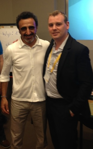 Hamdi Ulukaya and Ronan O'Brien